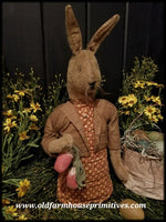 "#RS29 Primitive Standing Girl Rabbit ""Tansy"" (Made In USA)"