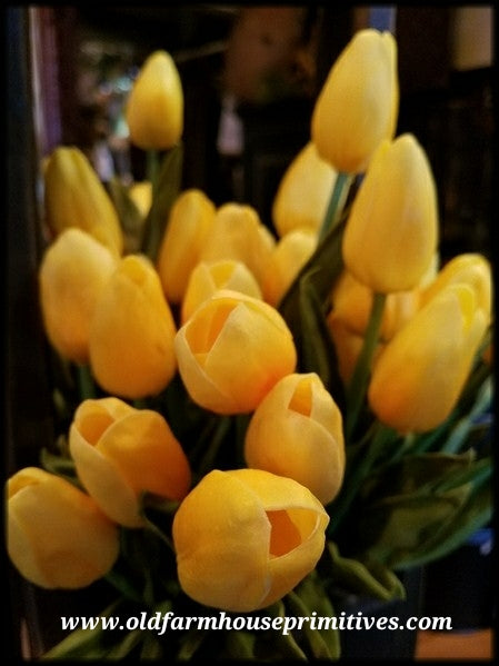 #YT4 Realistic Spring Mini Yellow Tulips New Size!