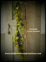 #SF2 Forsythia Wreath, Garland, And Bush