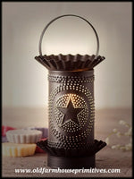 #MTW1 Primitive Punched Tin Star Mini Tartwarmer (Made In USA)