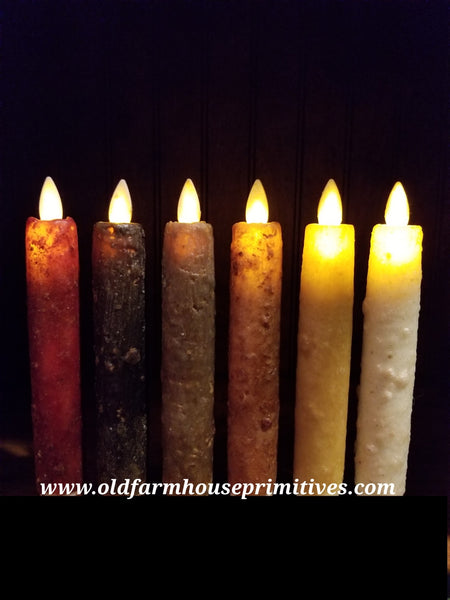 #RJ12 Primitive Flameless Candle Sticks (Made In USA)