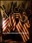 #PAF5 Primitive Betsy Ross Americana Flag