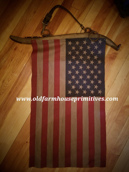 #PC67 Primitive Hanging Flag (Made In USA)