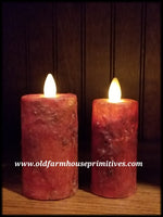 "#RJ14 Primitive Flameless Votive Candles ""Burnt Orange"" (Made In USA)"