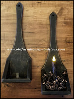 #PT11 Primitive Wood Candle Sconce (Made In USA)