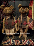"#RP27 Primitive Americana Boy & Girl Bears  ""Skylar & Boomer"" (Made In USA)"