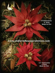 #PC1 Primitive Poinsettia Flower Pick #1 Seller (Made In USA)