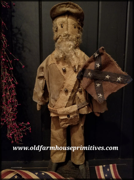 #RP46 Primitive Standing Confederate Soldier (Made In USA)
