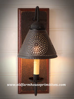 Crestwood Sconce in Espresso with Salem Brick (Made In USA)