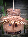"#LK13 Primitive Scarecrow Head Ornament ""PRE SELL"" (Made In USA)"