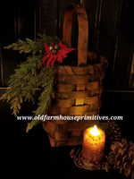 #PBBG9 Primitive Red Handmade Basket (USA)