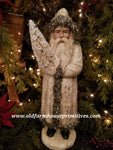 #RHBN5 Primitive Belsnickle Santa In Vintage White