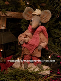 "#LT82 Primitive Standing Mouse ""Tiny Tim"" (Made In USA)"
