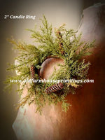 #PPR194 Prickly Pine Candle Ring #1 Seller