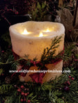 #RJ22 Primitive Flameless Ivory Candle (Made In USA)