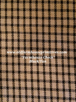 #FHC2 Farmhouse Check Black And Tan