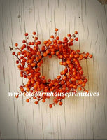 #LHHF2 Orange Harvest Cranberries Candle Ring