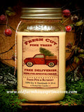 #HS34  Fresh Pine & Bayberry 100% Soy Blend Candles (Made In USA)