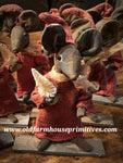 #LT38 Red Dress Mouse With White Bottle BrushTree (Made In USA)