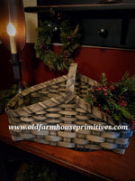 #PBBG16 Primitive Handmade Buttermilk Gathering Basket (Made In USA)