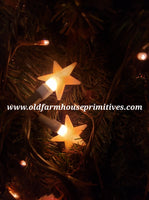 #PBSL3 Primitive Warm Glow Star POP-ONS For String of Lights (Made In USA)