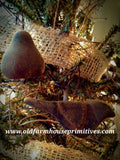 #PBBW414 Primitive Blackened Beeswax Partridge Pear Tree Set (Made In USA)