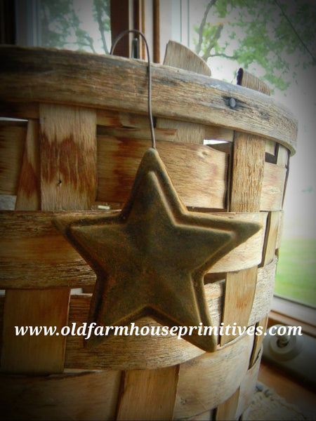 #PBBW509 Primitive Blackened Beeswax ⭐️ Star Ornaments (Made In USA)