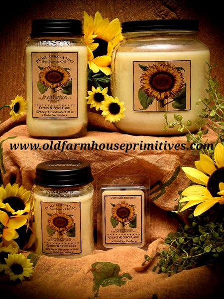 #HS49 Sunflower Citrus 🌻100% Soy Candles (Made In USA) ★