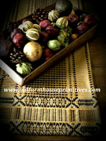 #EW1 Primitive Mustard/Black/Tan Edgefield Weave table square