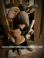 #LTF31 Primitive Tavern Mouse With Goblet & Pipe(Made In USA)★