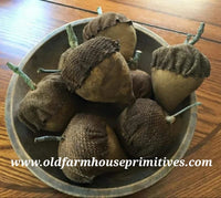 "#NNABF Primitive Handmade ""Acorn"" Bowl Fillers (Made In USA)"