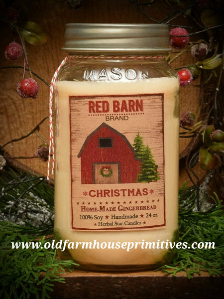 #HS55 Gingerbread 100% Soy Blend Candle (Made In USA)