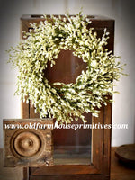 "#LHH23 Array Astilbe Candle Ring 6"" inner 14"" outer In Cream"