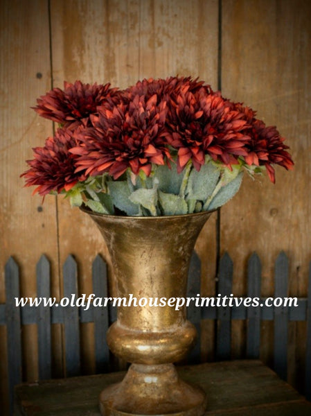 #RHN49 Wine Red Sunflower Stem