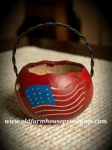 #MBG12 Meadowbrooke Gourd Americana Flag 🇺🇸 Basket (Made In USA) Back In Stock!