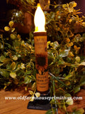 #SFTT  Primitive Sunflower 🌻 Battery Timer Taper Candle 🕯