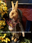 "#RM37 Primitive Medium Tattered & Torn Standing Girl Rabbit ""Chloe"" (Made In USA ) 🐰IN STOCK!"