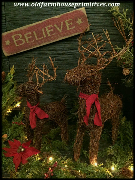 #TRD2 Primitive Twig Reindeer & Believe Sign