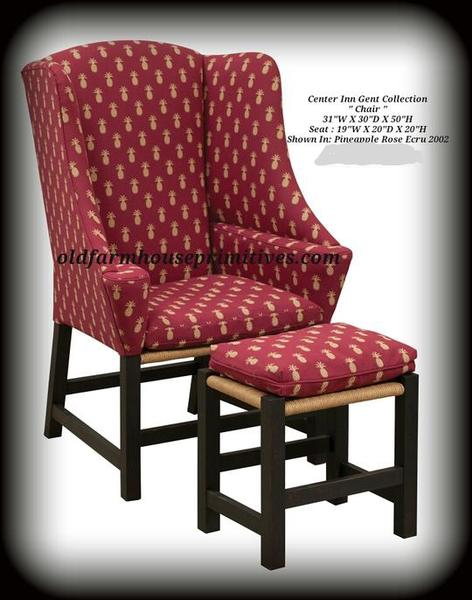 Center Inn Gent Collection Chair and Footstool A