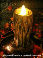 #RJ9 Primitive Drippy Candle (Made In USA)