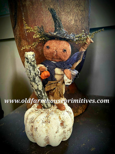 #LTF22 Primitive Pumpkin Witch Girl (Made In USA)