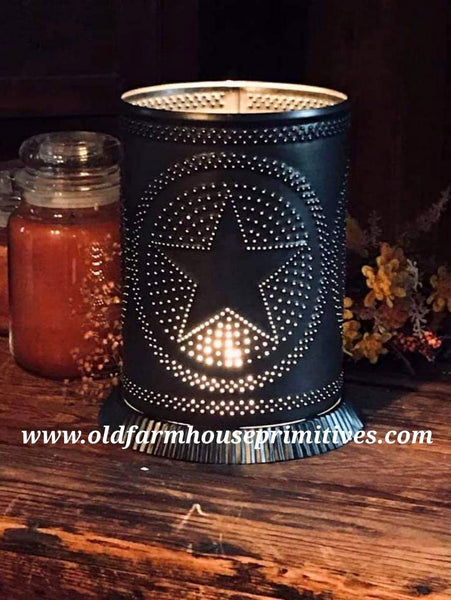 #PSCW Primitive Star Tin Punch Candle Warmer (Made In USA)