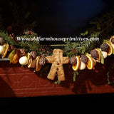 #BJBC97 Primitive Chunky 2' Gingerbread Garland Made In USA!