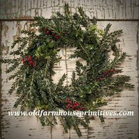 #RHHW BOXWOOD AND HEMLOCK WREATH 🌲In Stock