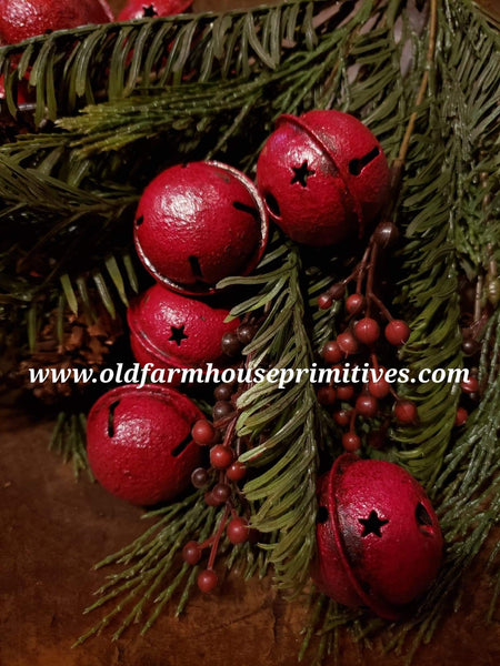 #BMRJB Primitive Medium Red Jingle Bells