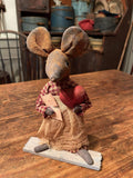 #LT12 Primitive Valentines Mouse With Heart ♥️ (Made In USA) BACK IN STOCK!
