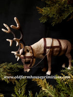 "#CY82 Craig Yanke small Reindeer ""Head Down"" (Made In USA)"