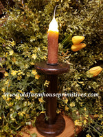 "#VJBRCC Antique Spool Battery Operated Candle ""Caramel Cappuccino"" (Made In USA)"