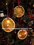 #BJBC3 Primitive Dried Orange Slice Ornaments #1 Seller! Set of 3