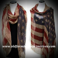 #VAFS Vintage American Flag Scarf (Made In USA) 🇺🇸